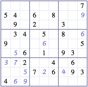 Maisee Xiong: Evil Sudoku Puzzle from Web Sudoku